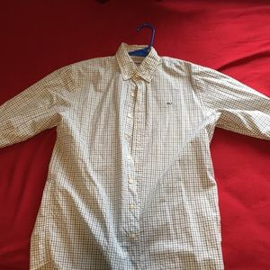 Vineyard Vines Button Up Checkered Dress Shirt